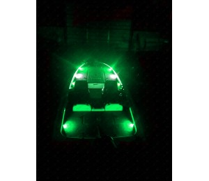 Nox series bass boat led deck light green 6 aloadofball Image collections