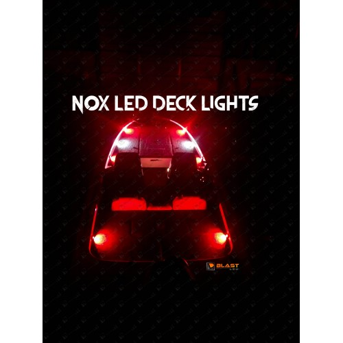 Nox series bass boat led deck light 8 pc choose colors aloadofball Image collections