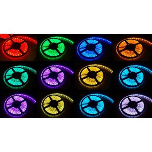 Ip68 waterproof rgb led strip light 5050 300 leds multi color aloadofball Image collections