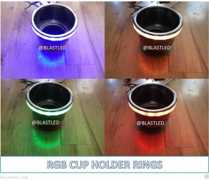 MULTI COLOR CHANGING LED CUP HOLDER LIGHT RING