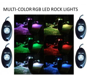 COLOR CHANGING LED ROCK LIGHT RGB -  4PC