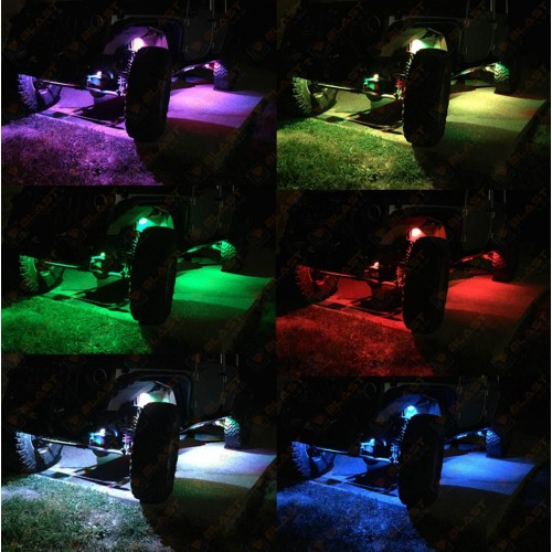 Multi Color Changing Led Rock Lights Rgb 4 Pod