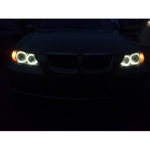 BMW Angel Eyes LED Upgrade Bulbs BMW E90 E91 325i 328i ...