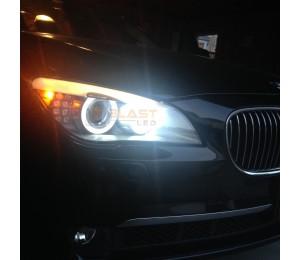BMW F01 F02 Angel Eyes LED Upgrade Bulbs H8 - 120W